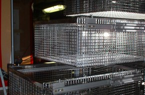 Stainless sliding baskets