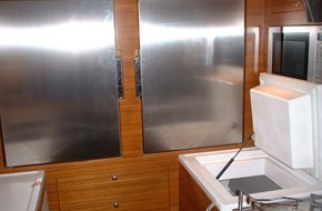 Freezer countertop and refrigerator wall installation